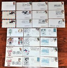 WHOLESALE LOT FIRST DAY ISSUE ARTMASTER OLYMPIC COVERS 1960-1984, STAMPS 4c -28c