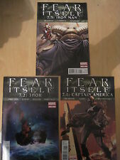 FEAR ITSELF 7.1/2/3 : Marvel's 2011 SHATTERED HEROES TRILOGY :THOR, IRON MAN,CAP