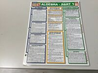 ALGEBRA PART 1…BARCHARTS QUICK STUDY GUIDE…NEW