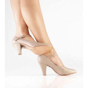 "SO DANCA CH53 Character Shoe w/ Leather Sole, 3"" Heel,RUNS SMALL, Black/Tan, NIB"