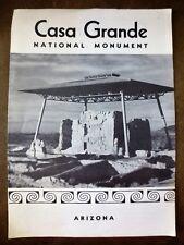 1961 Casa Grande National Monument Arizona Tourist Trifold Souvenir Brochure AZ
