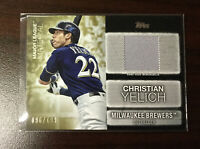 Christian Yelich Jersey Card. 2020 Topps Update Major League Materials. #96/199