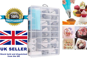 24 Pieces Reusable Russian Icing Piping Nozzles Tool Set Box Cupcake DMecorating