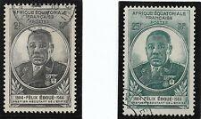 France colonies Afrique Equatoriale Française AEF YT 206 et 207 Obl