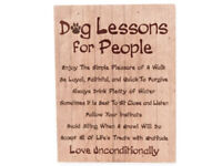 Dog Lessons For People ~ Dog Lover Wood Box Sign ~ Home Decor ~ Dog Owner Gift
