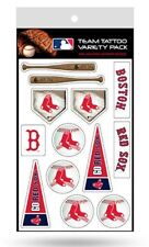 Boston Red Sox Team Tattoo Variety Pack Sheet Temporary Decal New Color Logo
