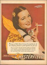 1942 WW2 era tobacco AD CHESTERFIELD CIGARETTES Buy War Bonds ! 083015