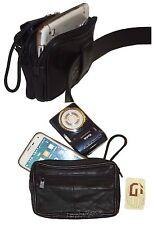 Camera bag, Large Cell phone case, belt bag, Leather belt bag / Camera case, BN