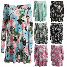 Viscose Long Sleeve Floral Plus Size Dresses for Women