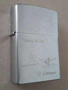 ZIPPO LIGHTER Boeing 747-400 Lufthansa  !!!