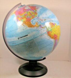 Globemaster Scanglobe Type-Y 12 Inch Diameter Globe World Map Plastic Base & Arm