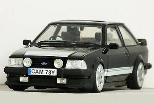 1:18 Custom MK3 FORD ESCORT RS1600i (Black) RS'7 MODIFIED TUNING RS turbo Code 3