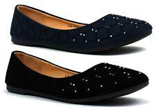 New Ladies Studded Slip On Ballerina Ballet Pumps Flat Sandals Summer Autumn