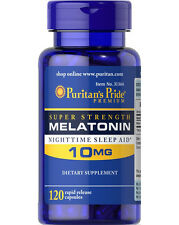 Puritan's Pride Melatonin 10 mg Night Time Sleep Aid 120 Capsules