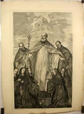 Eau forte d'après Véronèse, XVIIIe, Couronnement papal,Cosimo Mogalli
