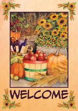 New listing New Toland Harvest Welcome Garden Flag Autumn Bounty Fall Flag 12.5 X 18