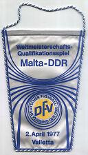GAGLIARDETTO WM-qualifica 02.04.1977 Malta-RDT a La Valletta