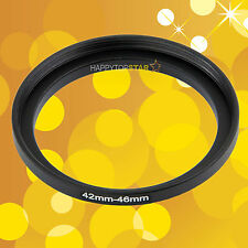 42mm to 46mm T42-46 mm Female to Male Step-Up Lens Filter CPL ND UV Ring Adapter