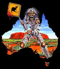 Iron Maiden-Eddie Australian Tour Shirt Kangaroo Sticker or Magnet