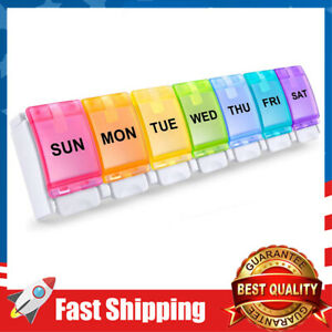 Weekly Pill Organizer,7 Day Pill Case Pop Open for Vitamins,Fish Oils,Supplement