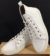 Ralph Lauren High Top Sneakers White Leather Silvana Women US 9 EU 39 1/2 EX!