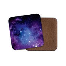 Purple Solar System Cork Backed Drinks Coaster - Nebula Galaxy Space #8364