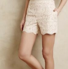 Anthropologie | Cartonnier Lace High Waisted Shorts With Pink Stripes Women's 8