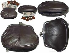 New Women's 2 Sided 2 Pockets Leather Change Purse Coin purse clutch bag wallet