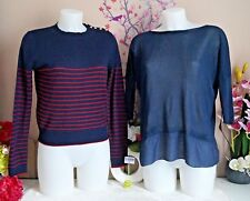 """Lot vêtements occasion femme - Pull """" Zara """", Haut """" Made In Italy """"- T: 36 / 38"""