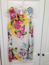 Girls, Pre-teen, Teen Dress from GLAM Cotton/Silk Flowers Pnk Yellow Green White