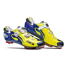 SIDI Drako Carbon SRS MTB Cycling Shoes Bike Shoes Yellow Fluo/Blue Size 38-46