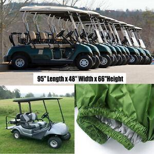 2Passenger Golf Cart Cover Protector For EZ GO Club Car Yamaha Enclosure Storage