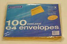 100 x C4 Self Peel Seal GOLD Plain Envelopes Size 230mm x 325mm 230 x 325 mm A4
