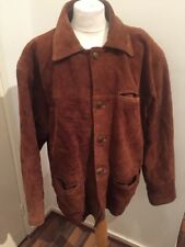 Vintage Tan Suede Padded Jacket Milan Leather Size L Good Condition