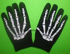 1 Pair Unisex Skeleton Gloves Full Finger Gloves Winter Gloves