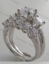 Certified 2.60ct White Diamond Three Stone Ring Band Engagement 14K Gold Ring