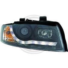 Coppia fari fanali anteriori TUNING AUDI A4 00-04 nero con Dayline a LED CANBUS