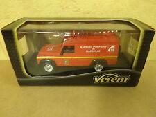 BOXED MODEL CAR SOLIDO VEREM / LAND ROVER SAPEURS POMPIERS DE MARSEILLE