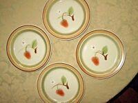 "4 Premiere Japan - Potterskraft - Stoneware Wild Strawberry 8.25"" Salad Plates"