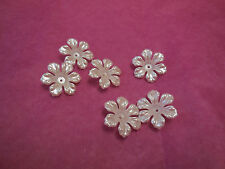5 pieces ivory sew on acrylic flowers bridal beads Sewing Any purpose diy 2.5cm