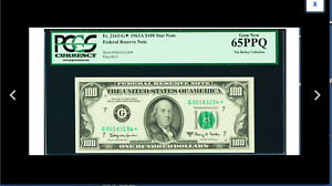 A GEM STAR  CHICAGO CHICAGO A STAR GEM Fr. 2163-G* $100 1963A Federal Reserve