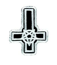 Inverted Pentagram Cross Patch Iron on Applique Occult Clothing Satanic Ritual