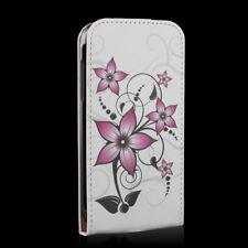 Handy Tasche Flip Case Samsung Galaxy S4 Mini GT-I9195 / Handytasche Blume rosa