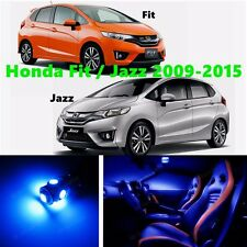 9pcs Blue Light LED Interior Package Kit for Honda Fit or Jazz 2009-2015