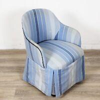 Poltrona vintage anni 50 poltroncina per camera da letto azzurro sedia imbottita