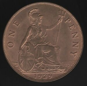 1929 George V One Penny Coin | British Coins | Pennies2Pounds