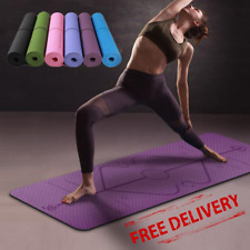Non-Slip Yoga Mat Fitness Floor Exercise Pilates Meditation Workout Home Sport