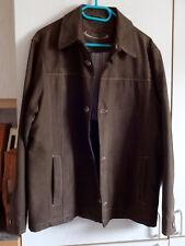 Caballeros-Piel sintética-chaqueta de Stonebridge marrón talla 26