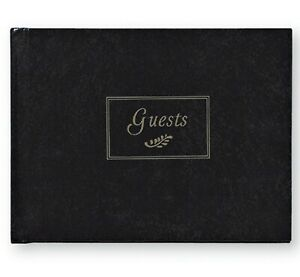 C.R. Gibson - Black - Hardcover Guest Book