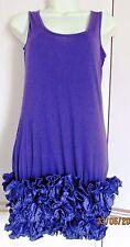 Violet Volants Robe Taille 10 Flamenco Parti entièrement neuf sans étiquette Sexy Fun